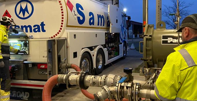 Fly Green Fund levererar drygt 15 ton bioflygbränsle till Ängelholm Helsingborg Airport
